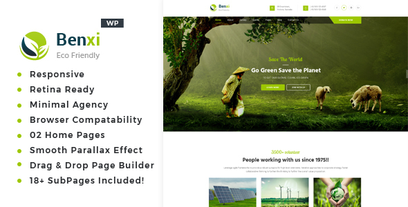 Benxi - Environment WordPress Theme - Environmental Nonprofit