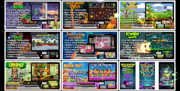 HTML5 GAMES BUNDLE №8 (CAPX)            Nulled
