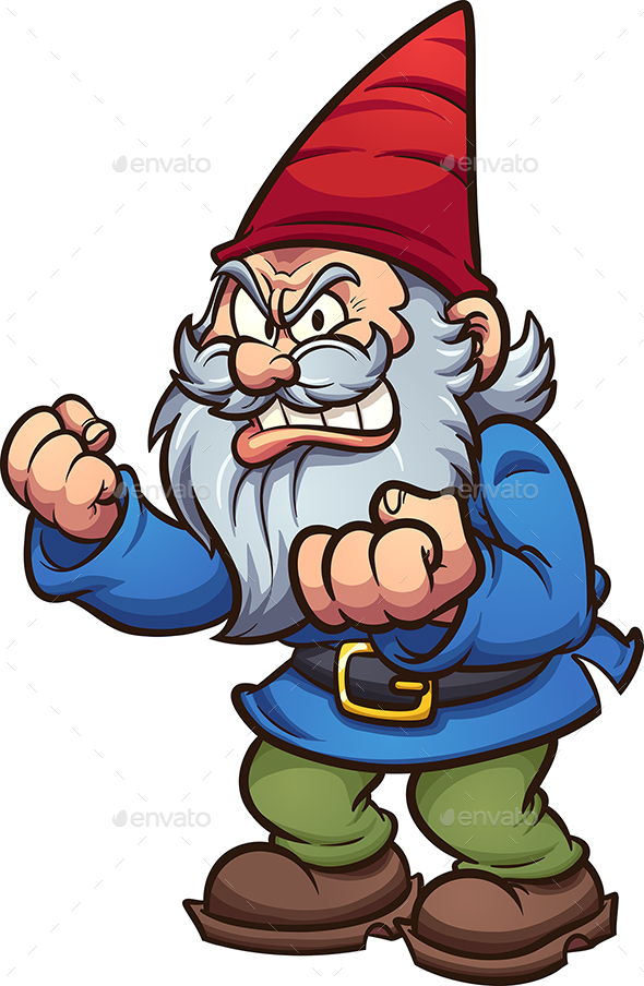 Angry Cartoon Gnome - People Characters