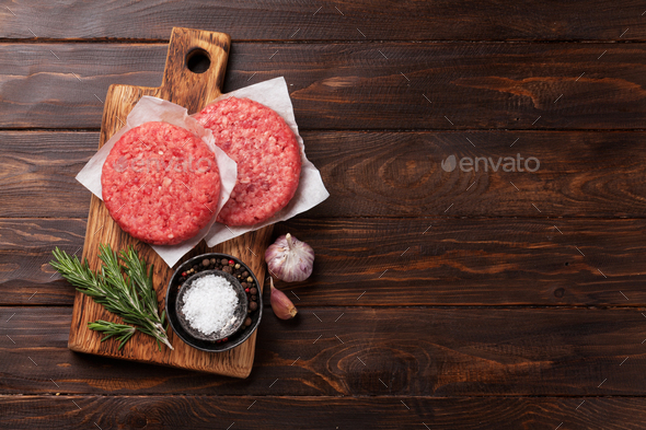 Tasty grilled home made burgers cooking - Stock Photo - Images