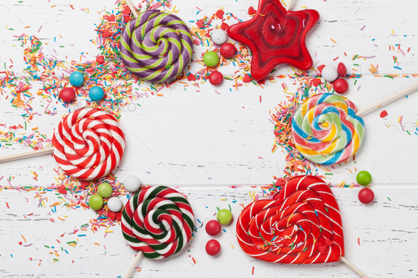 Colorful sweets - Stock Photo - Images