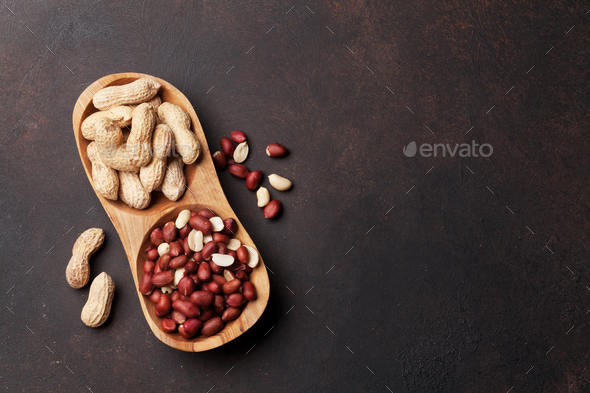 Peanut nuts - Stock Photo - Images
