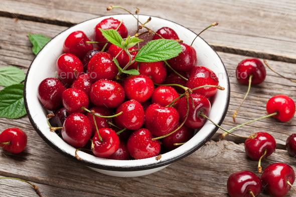 Fresh summer cherry - Stock Photo - Images