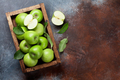 Green apples in wooden box - PhotoDune Item for Sale