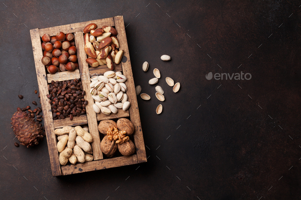 Various nuts selection - Stock Photo - Images