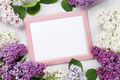 Colorful lilac flowers and photo frame - PhotoDune Item for Sale