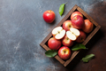 Red apples in wooden box - PhotoDune Item for Sale