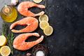 Raw salmon fish steaks - PhotoDune Item for Sale