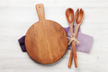 Cutting board over wooden table - PhotoDune Item for Sale