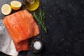 Raw salmon fish fillet - PhotoDune Item for Sale