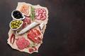 Salami, sliced ham, sausage, prosciutto - PhotoDune Item for Sale