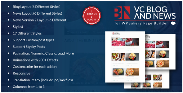 Blog and News Addons for WPBakery Page Builder for WordPress (formerly Visual Composer)            Nulled
