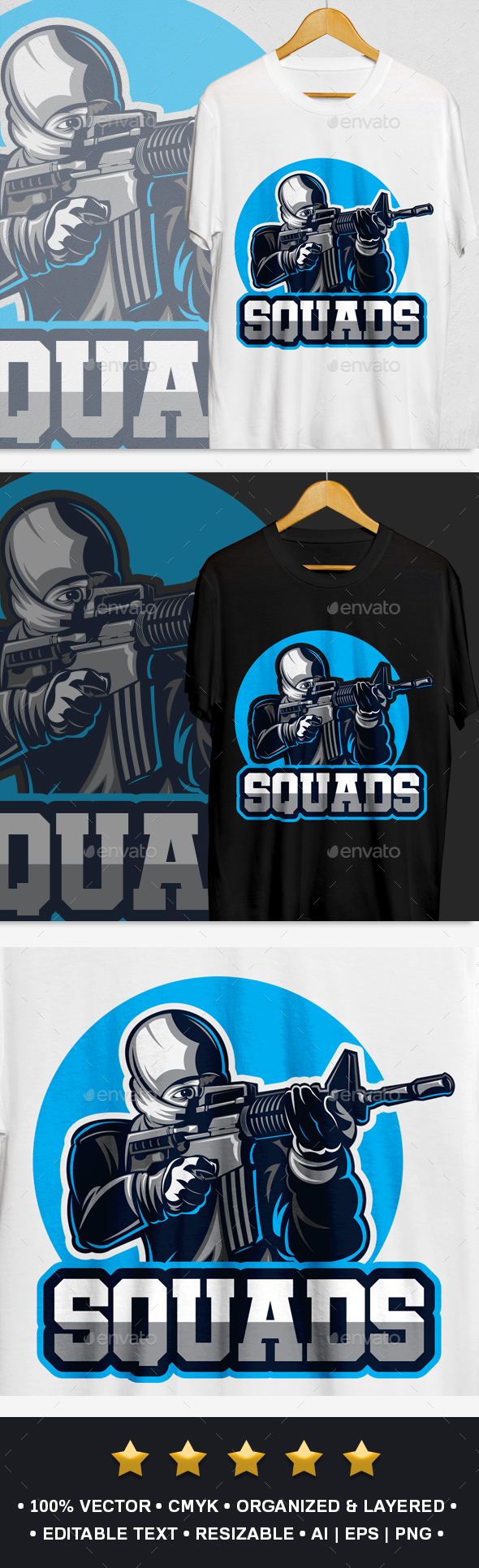 Squads T-Shirt Design - Sports & Teams T-Shirts