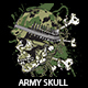 Army Skull T-shirt Design - GraphicRiver Item for Sale