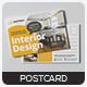 Interior Design Postcard - GraphicRiver Item for Sale