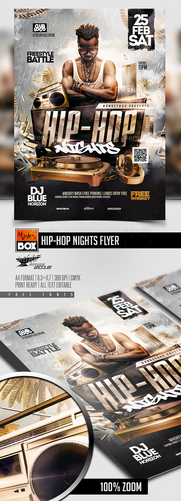 Hip-Hop Nights Flyer - Certificates Stationery