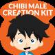 Chibi Character Male Creation Kit