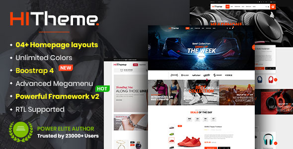 HiTheme - Multipurpose Sectioned Drag & Drop Bootstrap 4 Shopify Theme