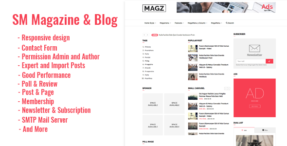 SM - Magazine News & Blog Script            Nulled