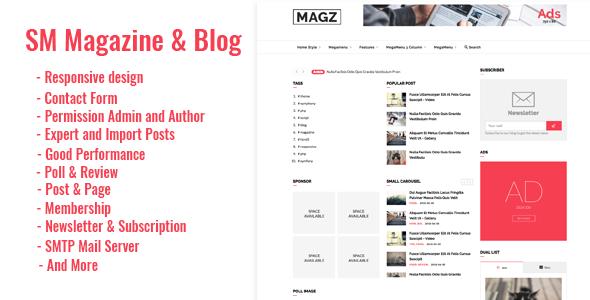SM - Magazine News & Blog Script            Nulled