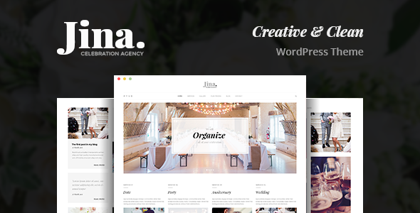 Jina - Celebration Agency Theme - Events Entertainment