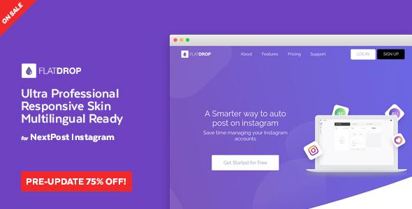 FlatDrop - NextPost Instagram Skin - CodeCanyon Item for Sale