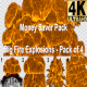 Pack of 4 Big Fire Explosions with Alpha (4K) - VideoHive Item for Sale