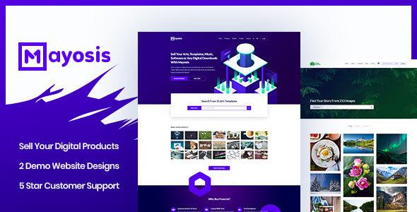 Image of Mayosis - Digital Marketplace WordPress Theme