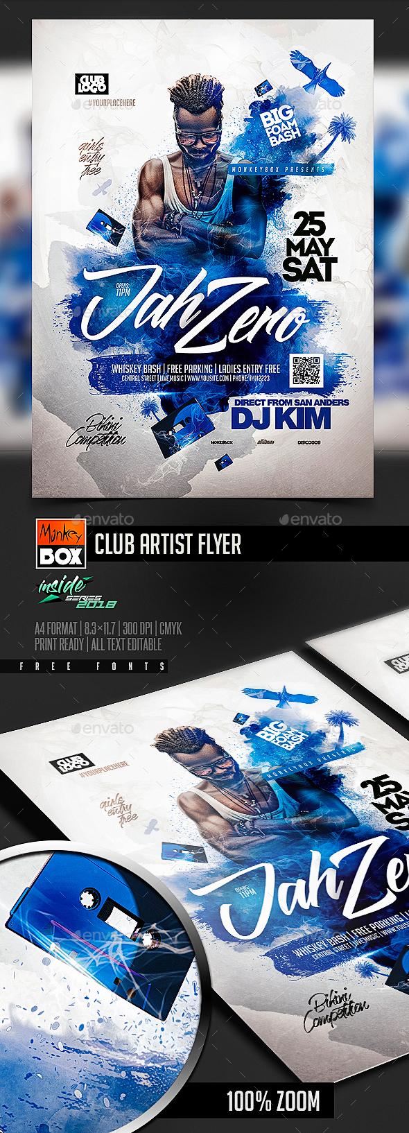 Club Artist Flyer - Events Flyers