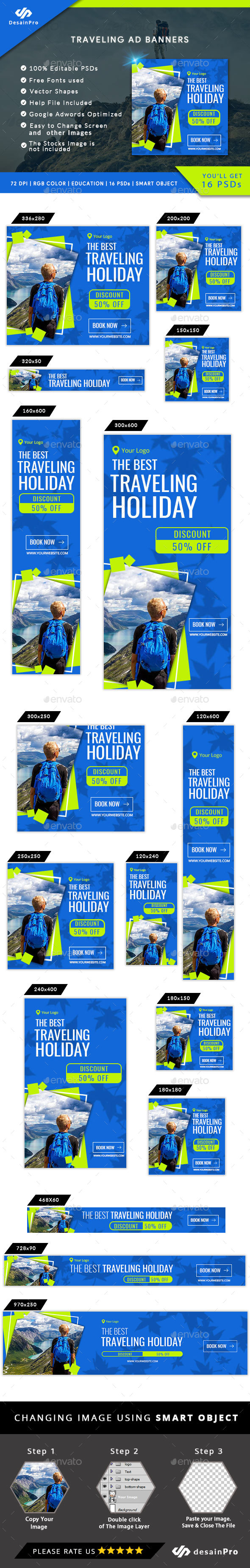 Traveling Ad Banners - AR - Banners & Ads Web Elements