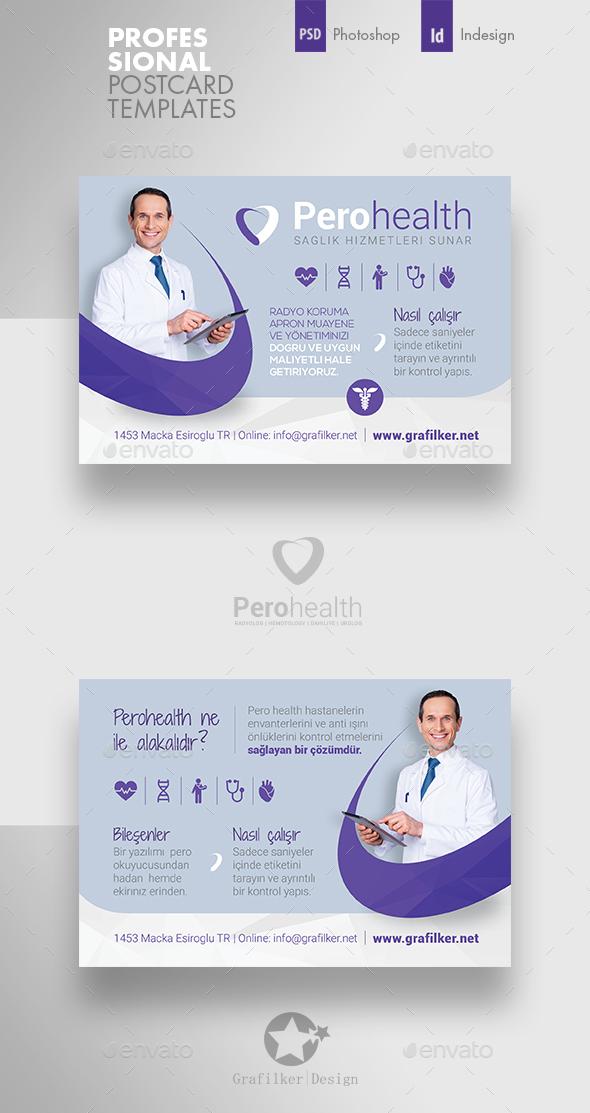 Health Application Postcard Templates - Cards & Invites Print Templates
