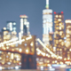Blurred picture of New York City skyline at night - PhotoDune Item for Sale