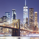 Brooklyn Bridge and Manhattan skyline at night, NY. - PhotoDune Item for Sale