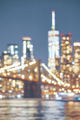 Blurred picture of New York City skyline at night