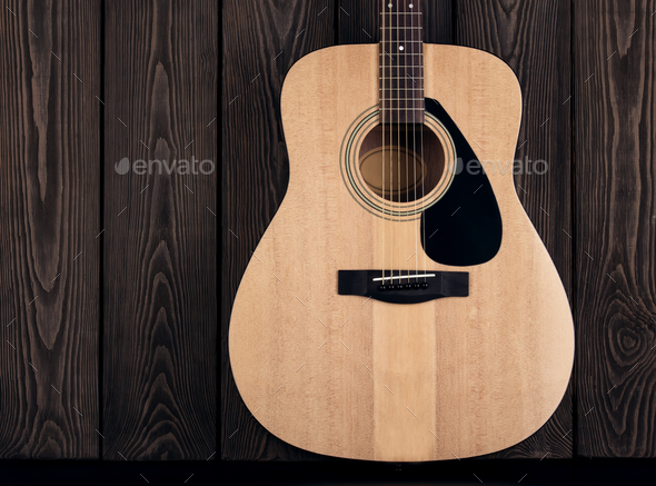 Acoustic classical guitar - Stock Photo - Images