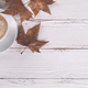 Coffe and autumn leaves - PhotoDune Item for Sale