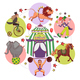 Flat Circus Round Concept - GraphicRiver Item for Sale