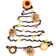 Chocolate christmas tree with candies, cookies and cupcakes isol - PhotoDune Item for Sale