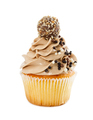Delicious cupcakes with chocolate sprinkles isolated on white - PhotoDune Item for Sale