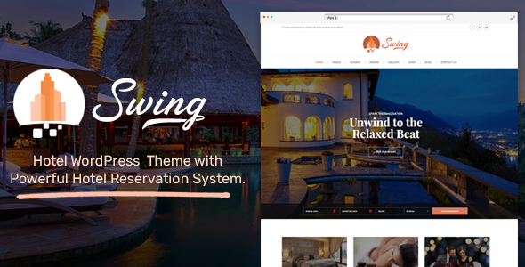 Swing - Resort and Hotel WordPress Theme - Travel Retail