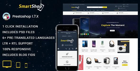 SmartShop - Electronics Prestashop 1.7 Responsive Theme - Technology PrestaShop
