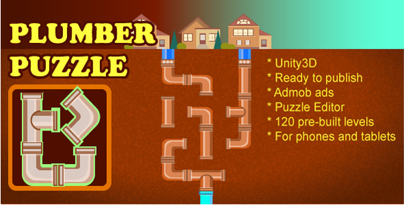 Connect Pipes: Plumber Puzzle - CodeCanyon Item for Sale