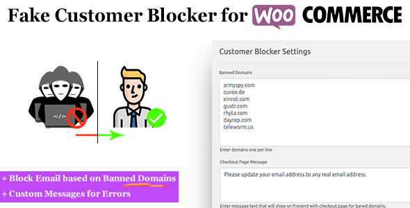 Fake Customer Blocker for WooCommerce - CodeCanyon Item for Sale