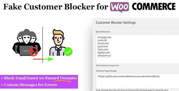 Fake Customer Blocker for WooCommerce            Nulled