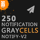 Graycells - 250 Responsive Email Notification with StampReady Online Builder Access