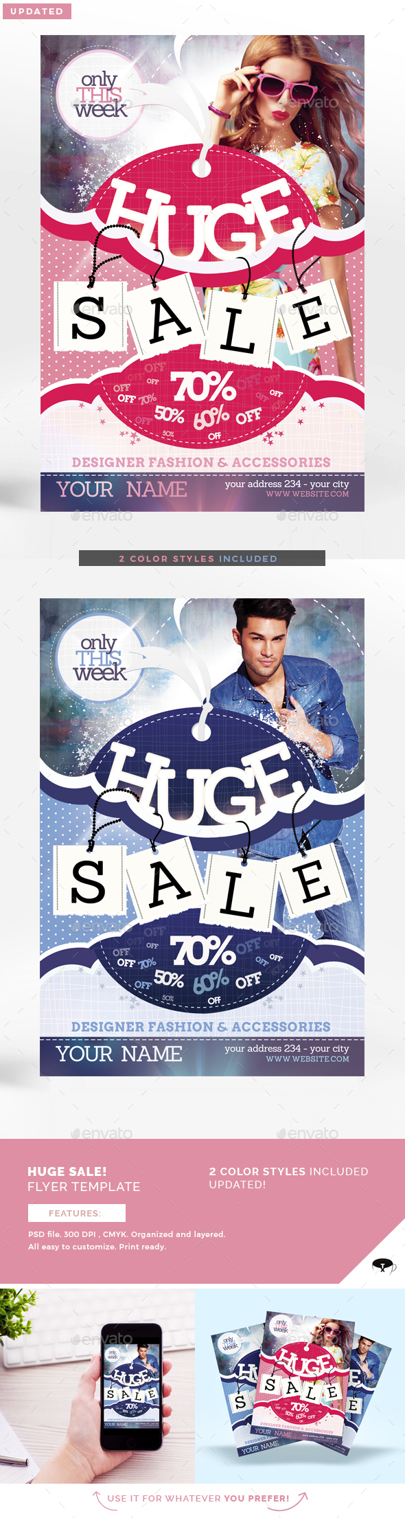 Sale / Promotion Flyer Template - Commerce Flyers