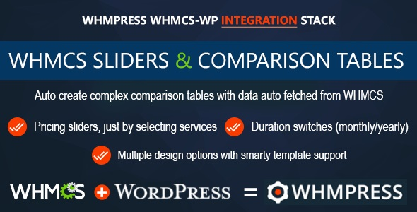 WHMCS Pricing Sliders and Comparison Tables - WHMpress Addon - CodeCanyon Item for Sale