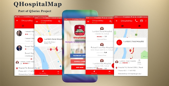 QHospitalMap - Hospitals, Medicals, Blood Banks, Pharmacies, Dental and Diagnostics Finder            Nulled