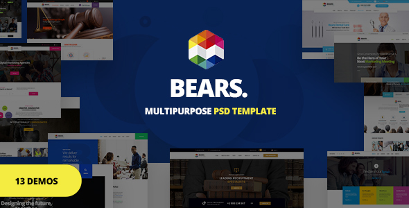 Bear's - Multi-Purpose Business PSD Template - Corporate PSD Templates