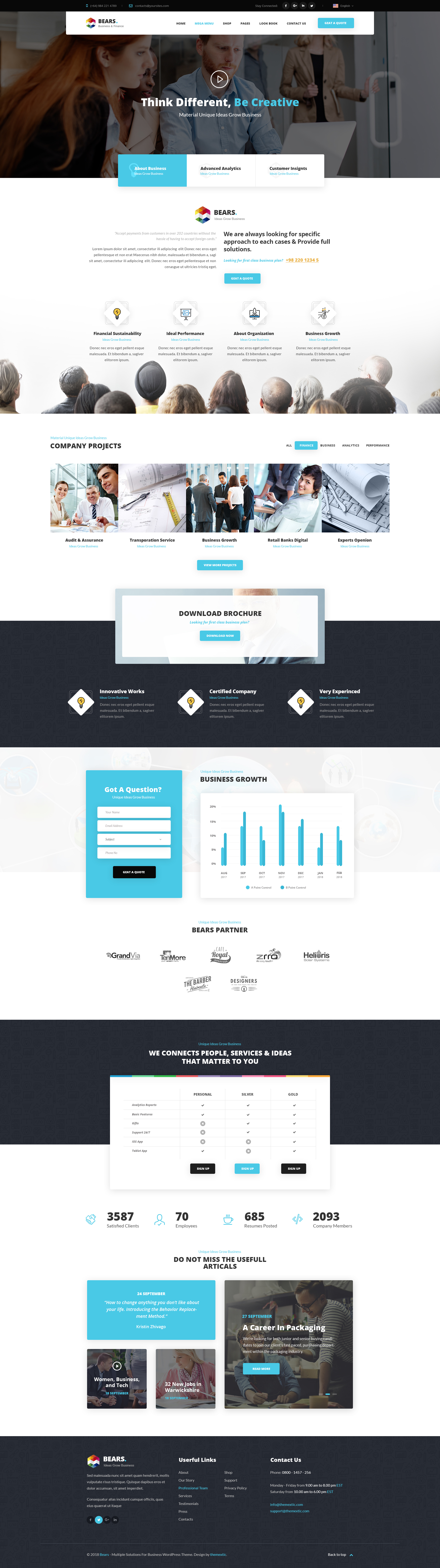 Bears Multi Purpose Business Psd Template By Themextic Themeforest
